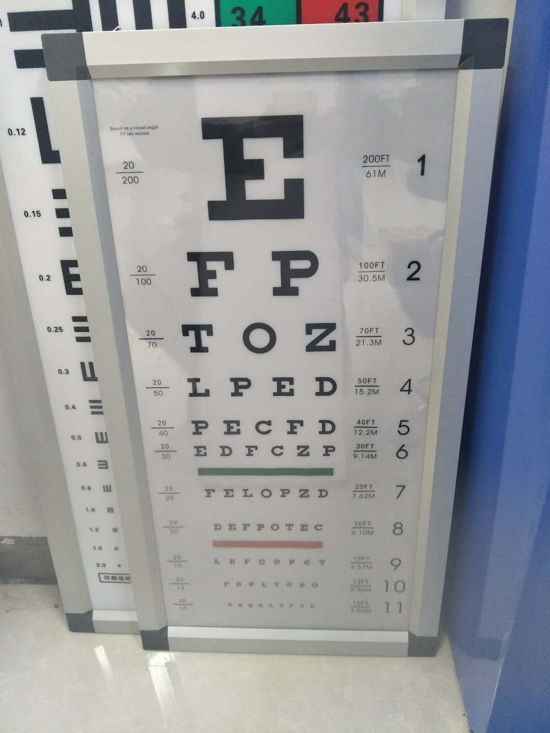 6M LED Ultrathin Vision Chart